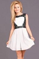 Dámské společenské šaty s krajkou bílé