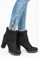 Černé podzimní shrnovací boty