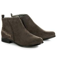 Klasické kotníkové boty hnědé