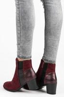 Vysoké bordo boty