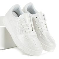 Bílé tenisky na platformě