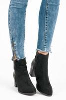 Černé vysoké boty