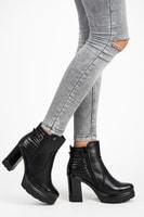 Kotníkové boty na platformě černé