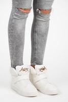 Sneakery na suchý zip bílé