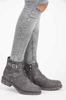 Boty s přezkami šedé