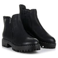 Kotníkové boty černé