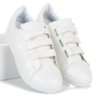 Tenisky na suchý zip bílé