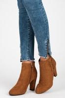 Zateplená obuv na zip hnědá