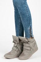 Sneakery na suchý zip šedé