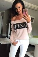 Dámské tričko s nápisem pudrově růžové