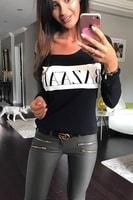 Dámské tričko s nápisem černé