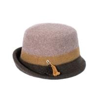Hnědý vlněný klobouk dámský