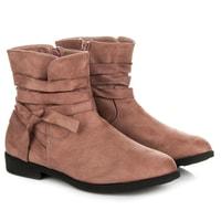 Semišové podzimní boty