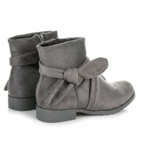 Semišové boty na zip šedé