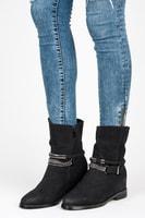Černé boty na podpatku