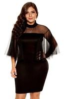 Dámské šaty pro plnoštíhlé černé