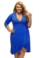 Dámské zavinovací šaty modré