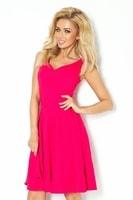 Elegantní letní šaty růžové