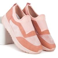 Růžové sportovní boty slip on