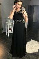 Luxusní dlouhé plesové šaty černé