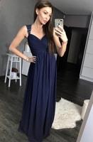 Antické dlouhé šaty tmavě modré