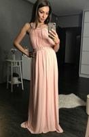 Dámské dlouhé plesové šaty růžové