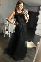 Dámské večerní šaty černé