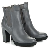 Vysoké kotníkové boty na platformě šedé