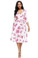 Dámské květované letní šaty bílé