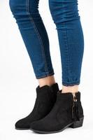 Módní semišové boty černé