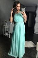 Dlouhé plesové šaty světle modré