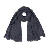 Pánský kostkovaný šál šedý