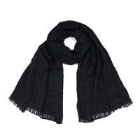 Pánský kostkovaný šál černý