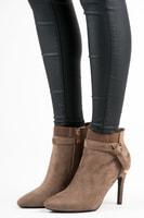 Stylové semišové kotníkové boty hnědé