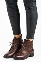 Hnědé nízké boty