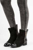 Elegantní kotníkové boty s kožíškem
