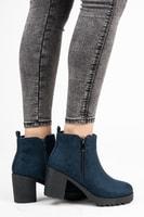Podzimní kotníkové boty na podpatku