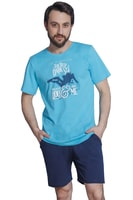 Krátké pánské pyžamo Geezer tyrkysové