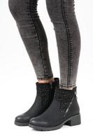 Casual kotníkové boty na zip
