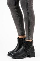 Casual kotníkové boty na zip černé