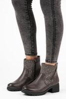 Casual kotníkové boty na zip šedé
