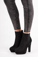 Elegantní kotníkové boty na platformě
