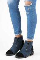 Semišové boty na podzim modré