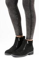 Semišové boty na podzim černé