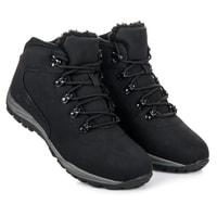 Vázané trekingové boty černé