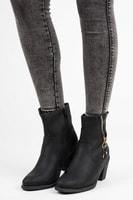 Kotníkové boty kovbojky černé