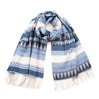 Zimní šál modrý