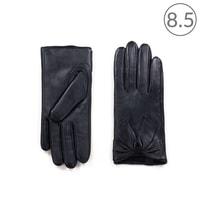 Tmavé kožené rukavice