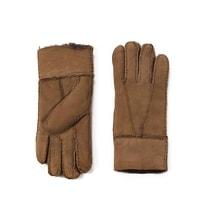 Kožené rukavice pro ženy béžové
