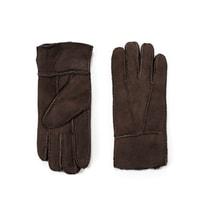 Kožené rukavice pro ženy hnědé